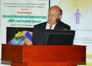 Dr Allan Thornton Speaking at Kuwait Cancer Control Center