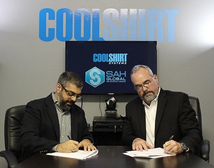 SAH Announces Partnership with Coolshirt Surgical Cooling Systems